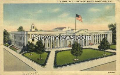 US Post Office - Charlotte, North Carolina NC Postcard
