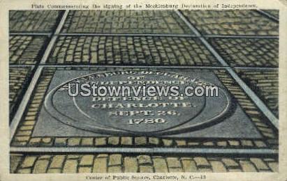 Center of Public Square - Charlotte, North Carolina NC Postcard