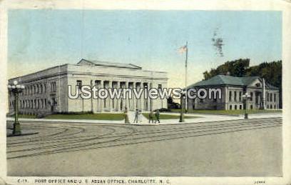 Post Office - Charlotte, North Carolina NC Postcard