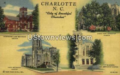 Hawthorne Lane Methodist Church - Charlotte, North Carolina NC Postcard