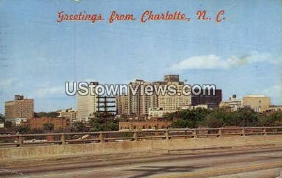 Charlotte, North Carolina, NC, Postcard