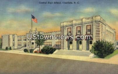 Central High School - Charlotte, North Carolina NC Postcard