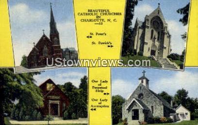 St. Peter's Catholic Church - Charlotte, North Carolina NC Postcard