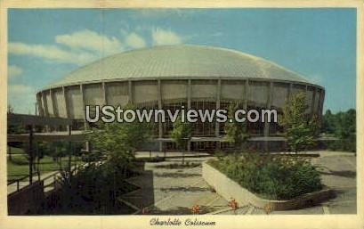 Charlotte Coliseum - North Carolina NC Postcard