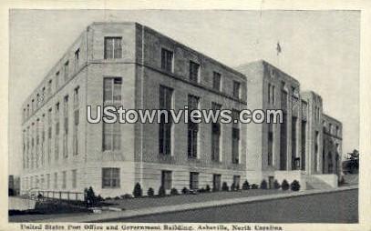 US Post Office - Asheville, North Carolina NC Postcard