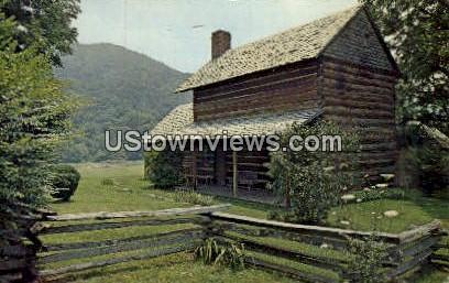 Log Cabin - Asheville, North Carolina NC Postcard