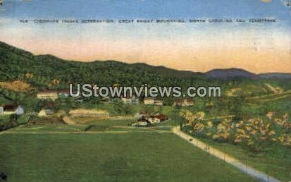 Cherokee Indian Reservation - Great Smoky Mountains National Park, North Carolina NC Postcard