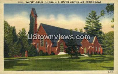 Calvary Church - Asheville, North Carolina NC Postcard