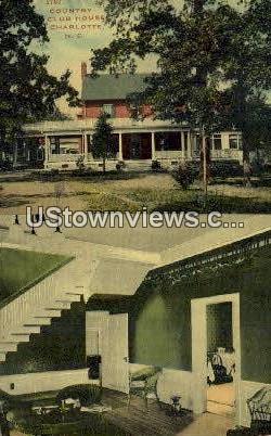 Country Club House - Charlotte, North Carolina NC Postcard