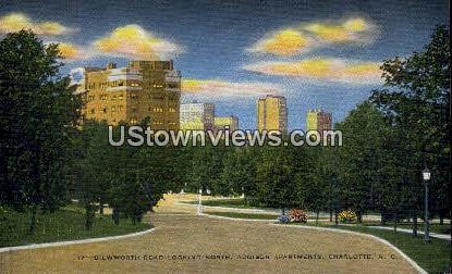 Dilwworth Road, Addison Apts - Charlotte, North Carolina NC Postcard