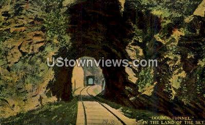 Double Tunnel - Misc, North Carolina NC Postcard