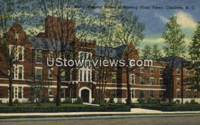 Mercy Hospital School - Charlotte, North Carolina NC Postcard