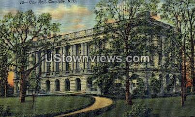 City Hall, Charlotte - North Carolina NC Postcard
