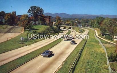 Expressway - Asheville, North Carolina NC Postcard