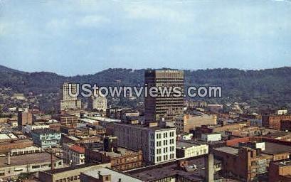 Main Business Section - Asheville, North Carolina NC Postcard