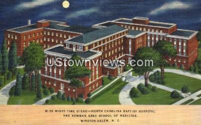 NC Baptist Hospital - Winston-Salem, North Carolina NC Postcard