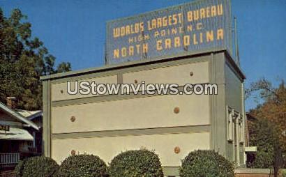Largest Bureau - High Point, North Carolina NC Postcard
