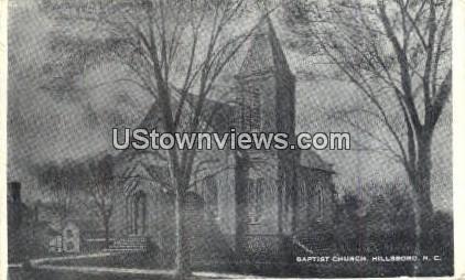 Baptist Church - Hillsboro, North Carolina NC Postcard