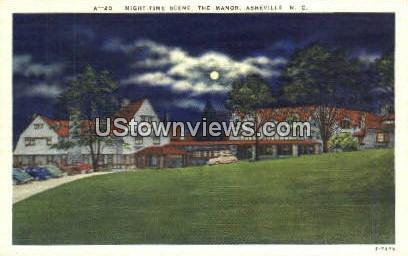 The Manor - Asheville, North Carolina NC Postcard