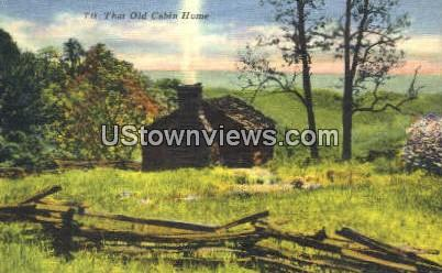 Old Cabin Home - Asheville, North Carolina NC Postcard