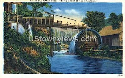 Old Water Wheel - Misc, North Carolina NC Postcard
