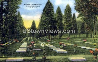 Moravian Cemetery - Winston-Salem, North Carolina NC Postcard