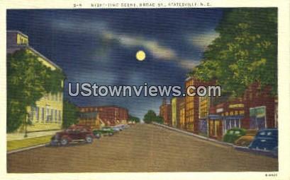 Broad Street - Statesville, North Carolina NC Postcard