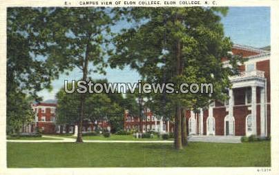 Elon College - North Carolina NC Postcard