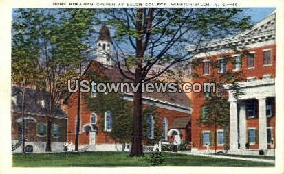 Moravian Church, Salem College - Winston-Salem, North Carolina NC Postcard