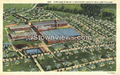 Southern Textile Mille & Village - Misc, North Carolina NC Postcard