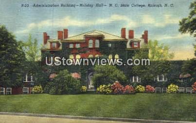Holiday Hall, NC State College - Raleigh, North Carolina NC Postcard