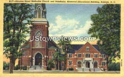 Edenton Street Methodist Church - Raleigh, North Carolina NC Postcard