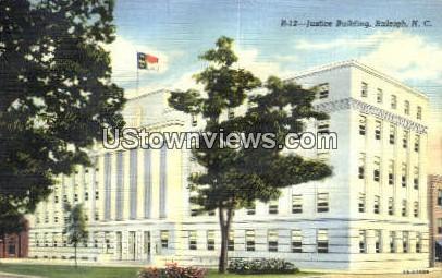 Justice Bldg - Raleigh, North Carolina NC Postcard