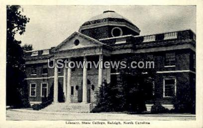 Library, State College - Raleigh, North Carolina NC Postcard