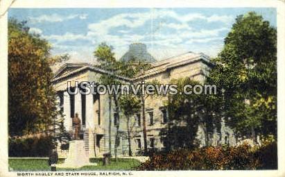Worth Bagley & State House - Raleigh, North Carolina NC Postcard