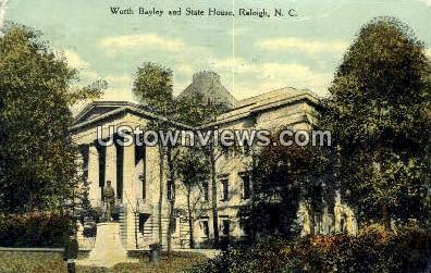 Worth Bayley & State House - Raleigh, North Carolina NC Postcard