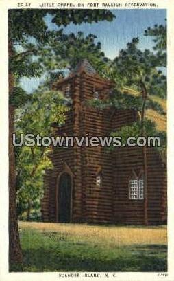 Little Chapel, Fort Raleigh - Roanoke Island, North Carolina NC Postcard