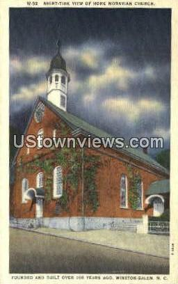 Moravian Church - Winston-Salem, North Carolina NC Postcard