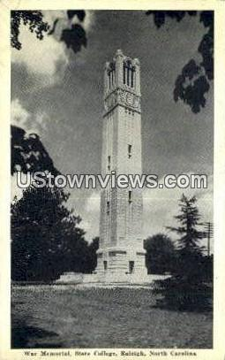 War Memorial, State College - Raleigh, North Carolina NC Postcard