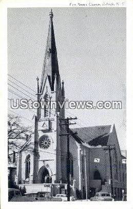 First Baptist Church - Raleigh, North Carolina NC Postcard