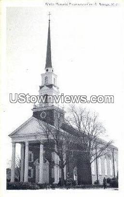 White Presbyterian Church - Raleigh, North Carolina NC Postcard