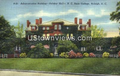 Admin Bldg, Holiday Hall - Raleigh, North Carolina NC Postcard