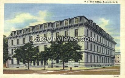 US Post Office - Raleigh, North Carolina NC Postcard