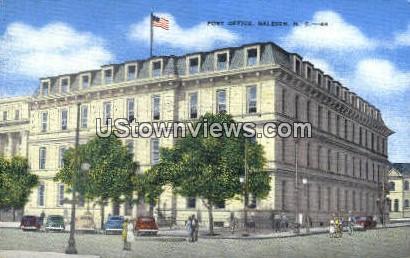 Post Office - Raleigh, North Carolina NC Postcard