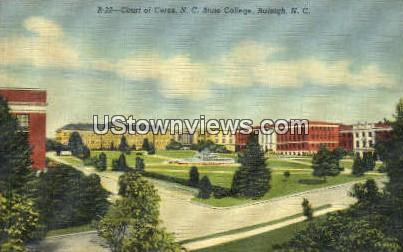 Court of Ceres, NC State College - Raleigh, North Carolina NC Postcard