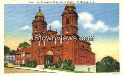 St. Lawrence Catholic Church - Asheville, North Carolina NC Postcard