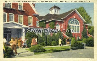 Baptist Church - Mars Hill, North Carolina NC Postcard