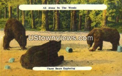 Three Bears - Misc, North Carolina NC Postcard