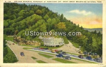 Spelman Memorial Monument - Great Smoky Mountains National Park, North Carolina NC Postcard