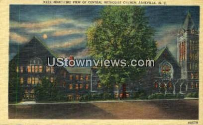 Central Methodist Church - Asheville, North Carolina NC Postcard